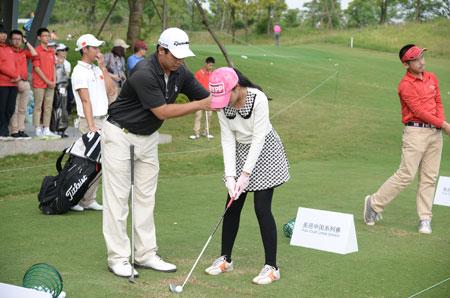 高尔夫球国家队员亲临指导武汉小将