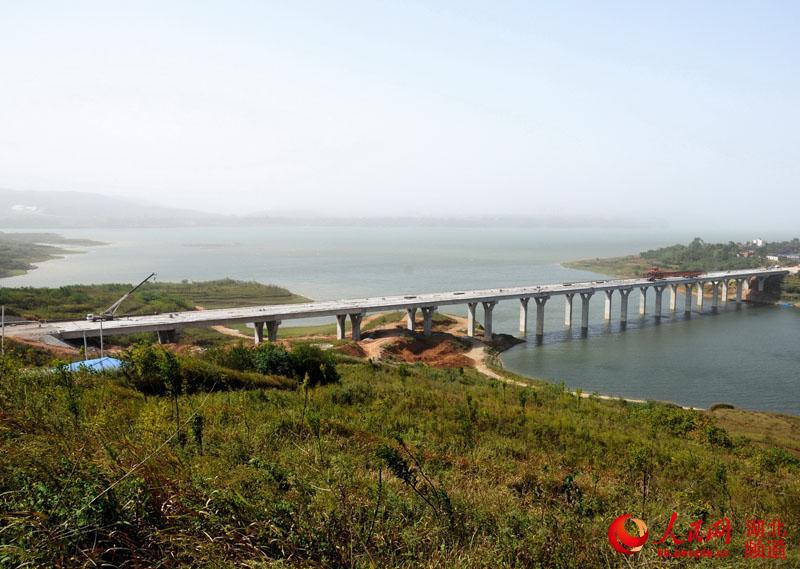 湖北十堰:大桥合拢庆国庆