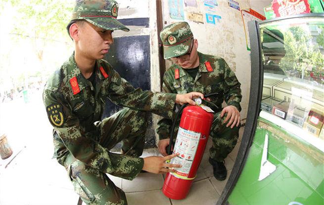 仙桃龙华山街道办事处专职消防队成立并投入执勤