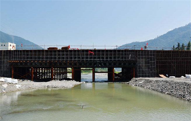 湖北保康:清溪河二桥工程建设进展顺利