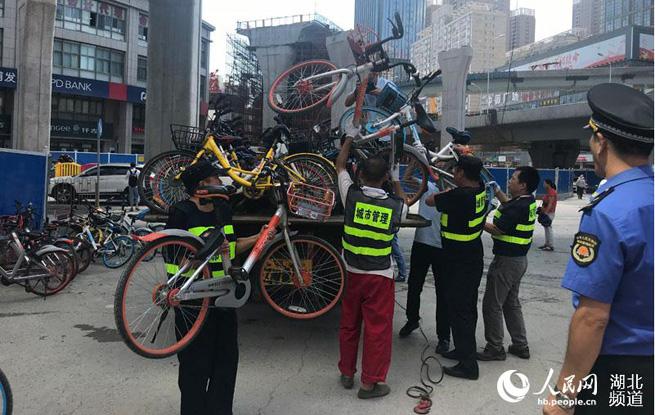 武汉市硚口区两月清理共享单车2.5万辆