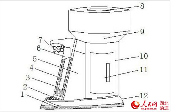高校学子发明新型饮水机获专利设有温水出水口