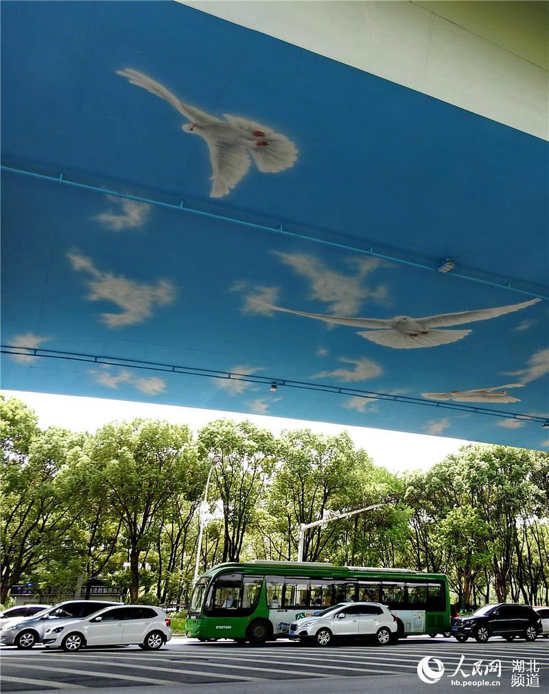 和平鸽飞舞东风大道 喜迎建国70周年、第七届世界军运会【2】