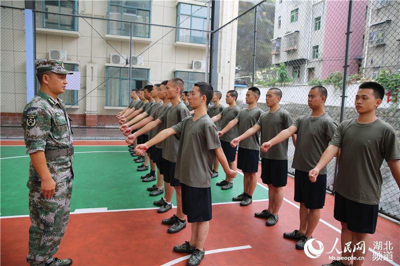 湖北秭归百名预征新兵接受集中军训【2】
