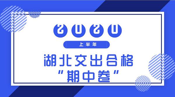 """礼卷GDP_湖北交出合格""""期中卷""""上半年GDP恢复至上年同期八成"""