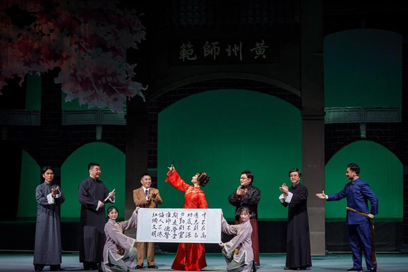 黄冈师范学院《霜天红烛》在京成功展演